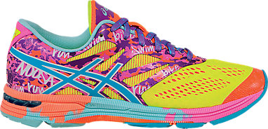 ASICS GEL NOOSA TRI 9 Women's Bright Multi Trainers Running Shoes UK 7 EU 40.5