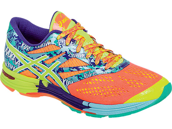 GEL-Noosa Tri 10 Flash Coral/Flash Yellow/Ice Blue 7