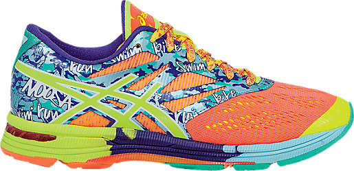 GEL-Noosa Tri 10 Flash Coral/Flash Yellow/Ice Blue 3 RT