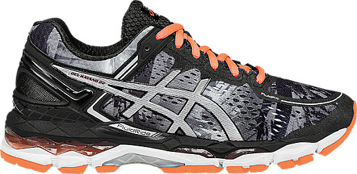 GEL-Kayano 22 Black/Flash Coral/White 3 RT