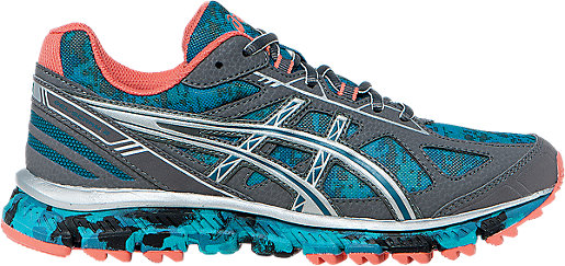 Womens ASICS Gel-Scram 2 Trail Running Shoe Blue/Silver/Coral