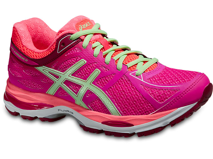 Women's GEL-CUMULUS 17 | PINK GLOW/PISTACHIO/FLASH CORAL ...
