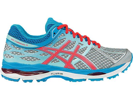ASICS Gel-Cumulus 17 Women Silver/Hot Pink/Turquiose Running Shoes