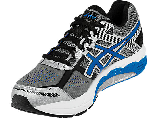 GEL-Foundation 12 (4E) Carbon/Electric Blue/Black 11