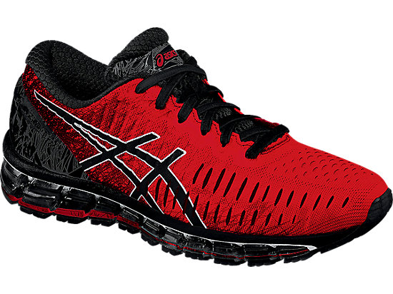 asics black and red