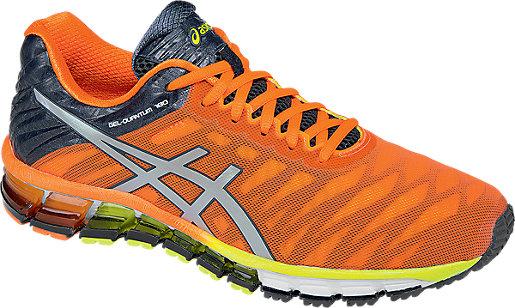 Asics Running shoes Mens Silver Orange Dark Gel quantum 180 Slate