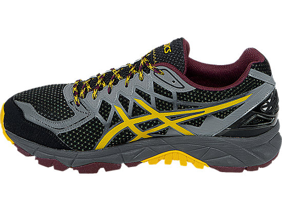 GEL-FujiTrabuco 4 Neutral Black/Spectra Yellow/Royal Burgundy 15