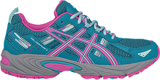 ASICS GEL Venture 5 Blue Pink Trail Running Shoes