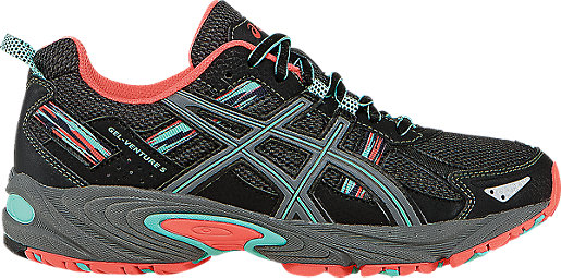 GEL-Venture 5 Black/Aqua Mint/Flash Coral 3 RT