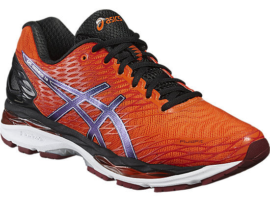 GEL-NIMBUS 18 FLAME ORANGE/BLACK/SILVER 7