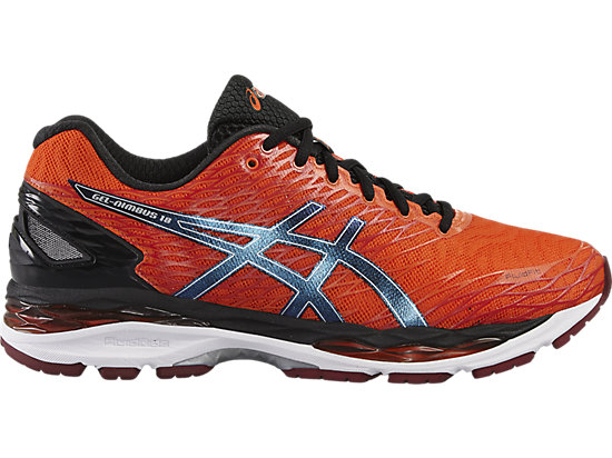 GEL-NIMBUS 18 FLAME ORANGE/BLACK/SILVER 3