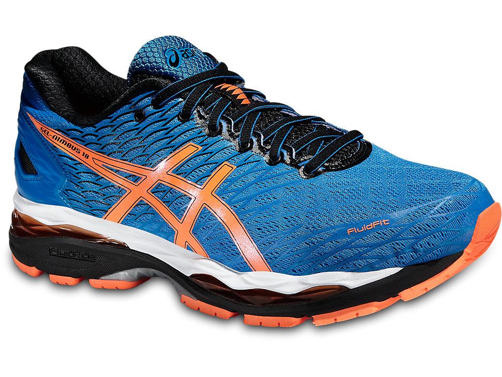 GEL-NIMBUS 18, ELECTRIC BLUE/HOT ORANGE/BLACK