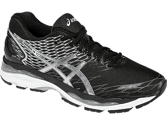 Asics Women S Gel Nimbus  Shoe Black Silver Carbon