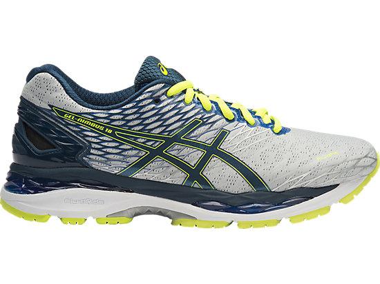 ASICS GEL Nimbus 18 SilverInkFlash Yellow Men's Running Shoes