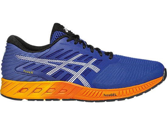 fuzeX ASICS Blue/Indigo Blue/Hot Orange 3