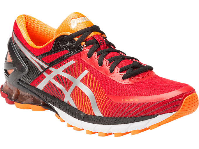 ASICS GEL CUMULUS 19 Mens Running Show UK 7.5 Hot Orange