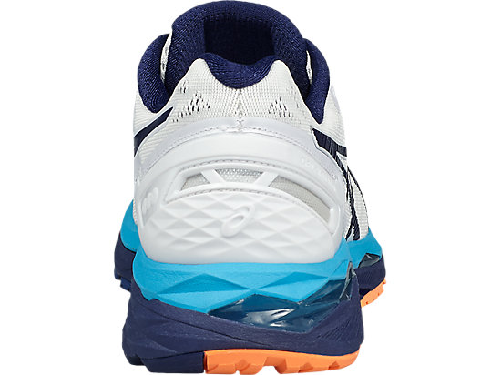 GEL-KAYANO WHITE/INDIGO BLUE/HOT ORANGE 19
