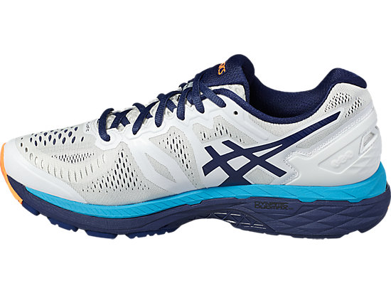 GEL-KAYANO WHITE/INDIGO BLUE/HOT ORANGE 7