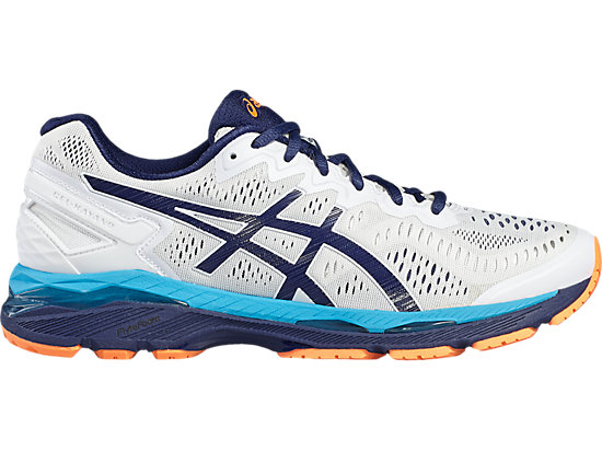 GEL-KAYANO WHITE/INDIGO BLUE/HOT ORANGE 3