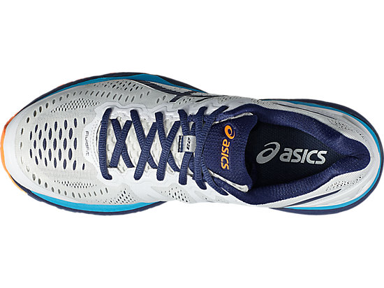 GEL-KAYANO WHITE/INDIGO BLUE/HOT ORANGE 15