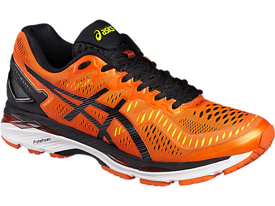 GEL-KAYANO 23 FLAME ORANGE/BLACK/SAFETY YELLOW 7