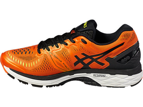 GEL-KAYANO 23 FLAME ORANGE/BLACK/SAFETY YELLOW 11 LT