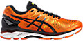GEL-KAYANO 23:FLAME ORANGE/BLACK/SAFETY YELLOW