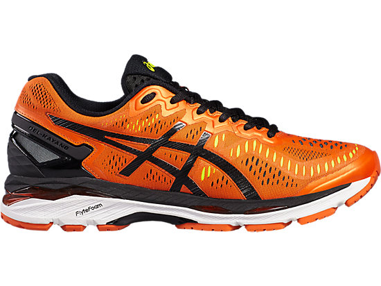 GEL-KAYANO 23 FLAME ORANGE/BLACK/SAFETY YELLOW 3 RT