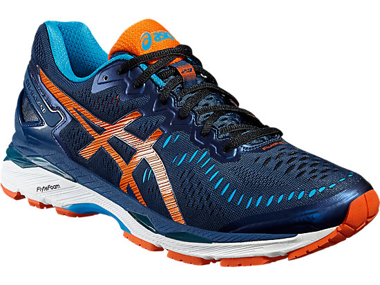 GEL-KAYANO POSEIDON/FLAME ORANGE/BLUE JEWEL 7