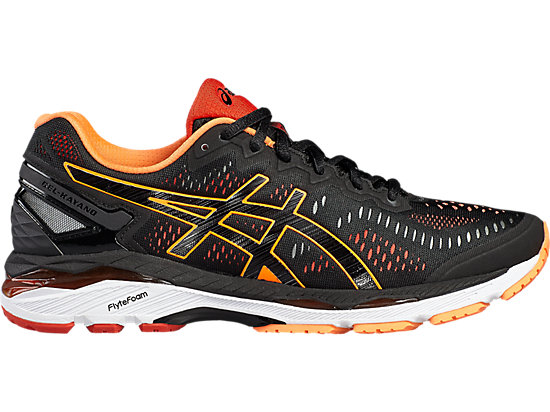 GEL-KAYANO 23 BLACK/HOT ORANGE/VERMILION 3