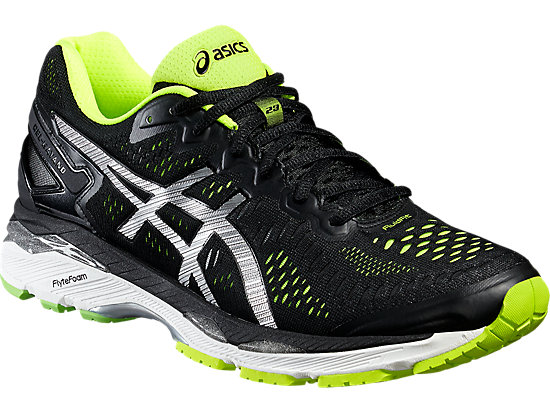 GEL-KAYANO 23 BLACK/SILVER/SAFETY YELLOW 7 FR