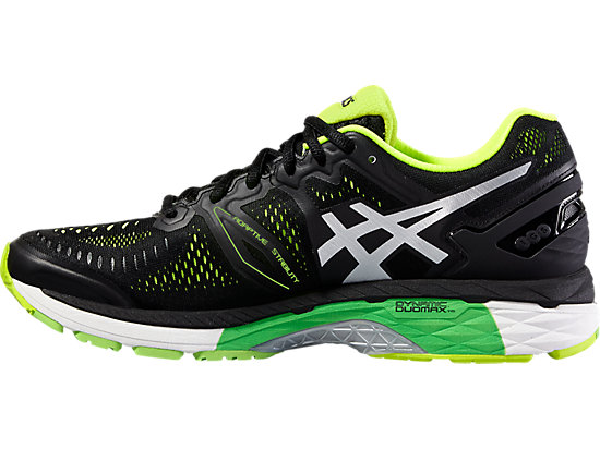 GEL-KAYANO 23 BLACK/SILVER/SAFETY YELLOW 11