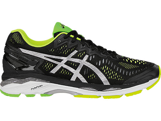GEL-KAYANO 23 | MEN | Black/Silver/Safety Yellow | ASICS US