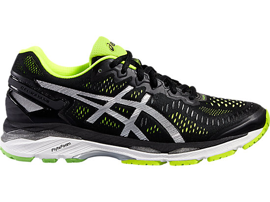 GEL-KAYANO 23 BLACK/SILVER/SAFETY YELLOW 3 RT