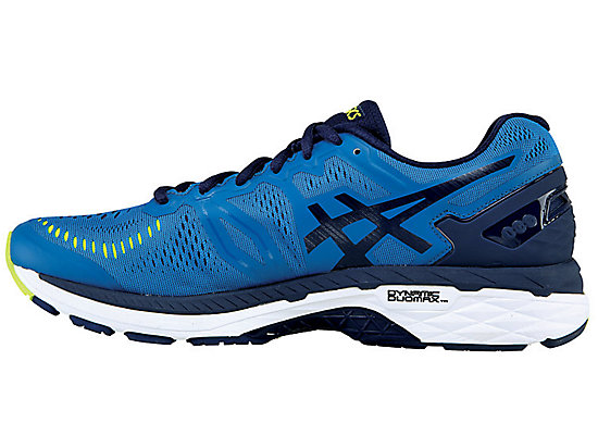 GEL-KAYANO 23 (2E) THUNDER BLUE/SAFETY YELLOW/INDIGO BLUE