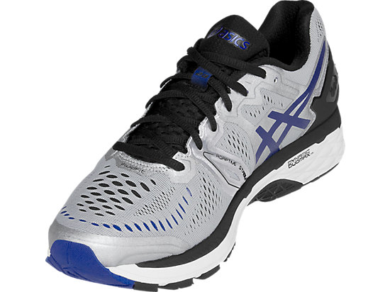 GEL-Kayano 23 (4E) Silver/Imperial/Black 11