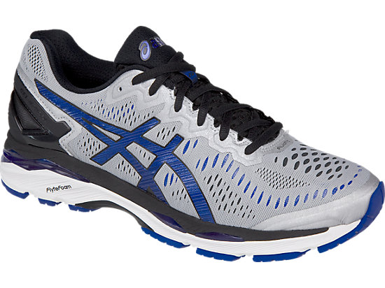 GEL-Kayano 23 (4E) Silver/Imperial/Black 7