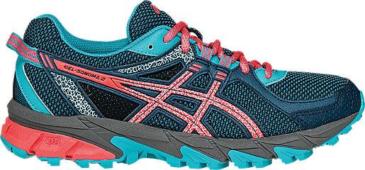 Asics Running shoes Womens Blue Coral Gel sonoma 2 Trail Mediterranean Flash Scuba