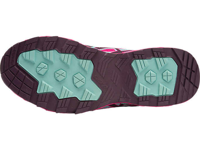 Bottom view of GEL-FUJIENDURANCE PLASMAGUARD, Eggplant/Sport Pink/Aqua Haze