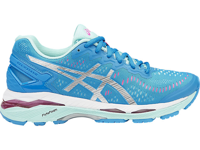 Right side view of GEL-KAYANO 23, DIVA BLUE/SILVER/AQUA SPLASH