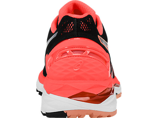 GEL-Kayano 23 Black/Silver/Flash Coral 27