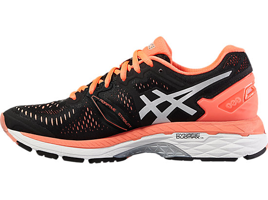 GEL-KAYANO 23 BLACK/SILVER/FLASH CORAL 11