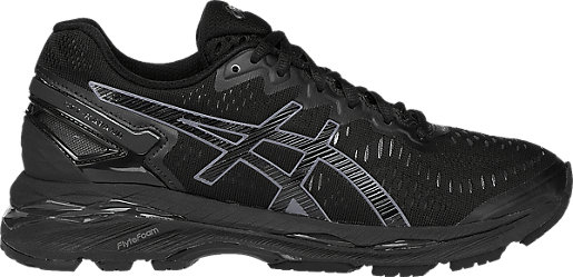 New Women's Asics Black Running Shoes
