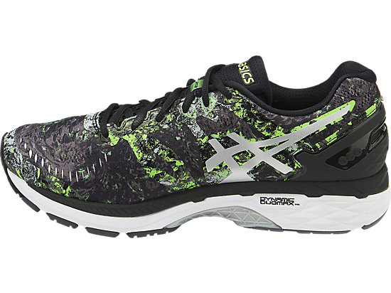 GEL-KAYANO BLACK/SILVER/GREEN GECKO 7