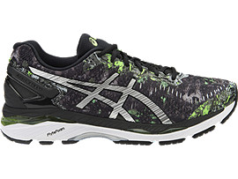 GEL-KAYANO 23, Black/Silver/Green Gecko