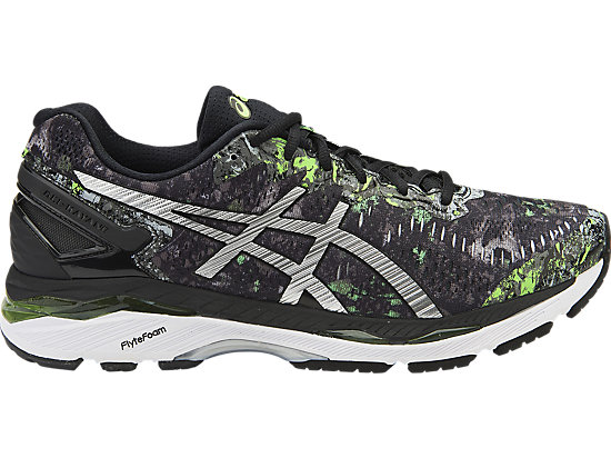GEL-KAYANO BLACK/SILVER/GREEN GECKO 3