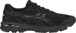 asics black running shoes