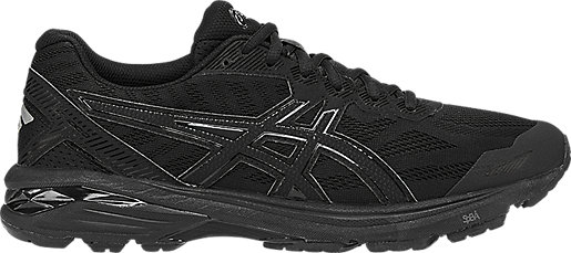 Women ASICS GT-1000 4'Running Shoes' Black/Onyx/Black Model UK0583