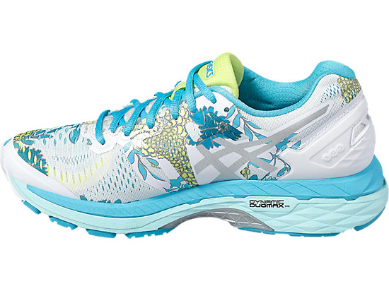 GEL-KAYANO 23 WHITE/SILVER/AQUARIUM 7 LT