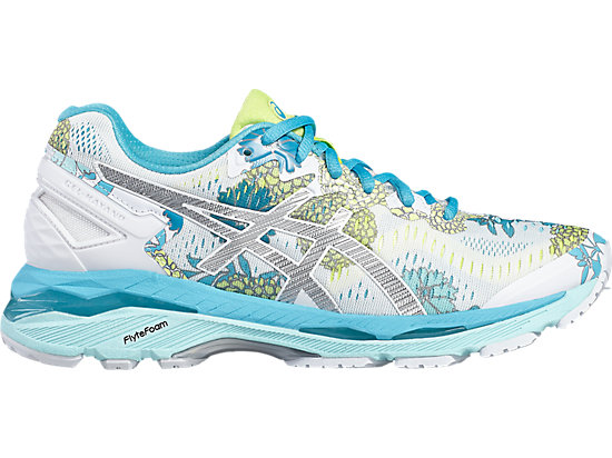 GEL-KAYANO 23 WHITE/SILVER/AQUARIUM 3 RT